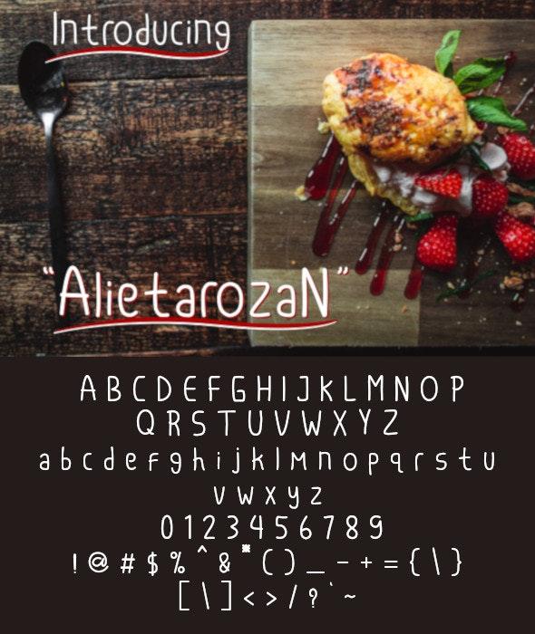Alietarozan - Hand-writing Script