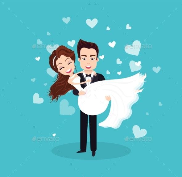 Wedding Celebration of Bride and Groom Couple - Weddings Seasons/Holidays