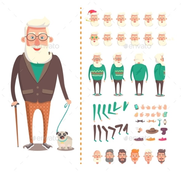 Old Man Constructor - People Characters