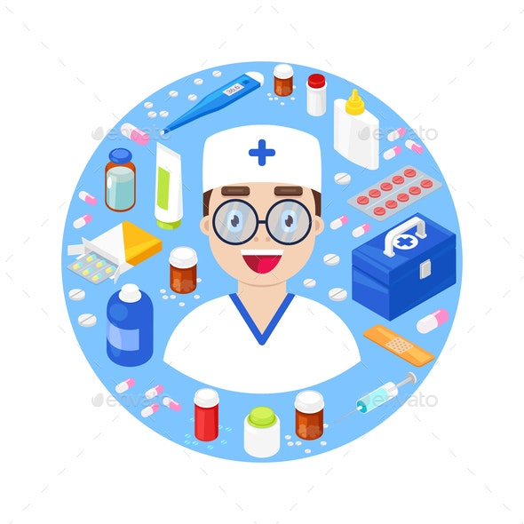 Doctor with Medical Equipment - Health/Medicine Conceptual