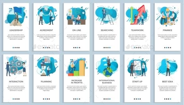 International Business Teamwork and Startup Set - Concepts Business