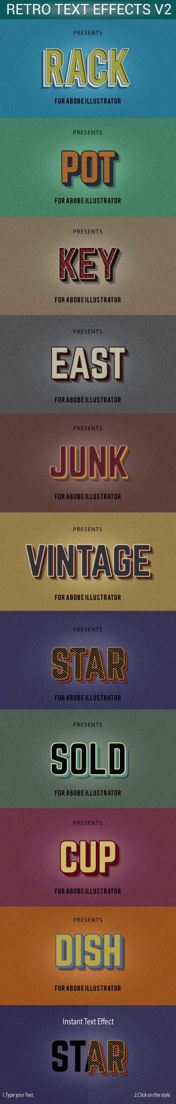 10 Defferent Retro Styles For Illustrator - Styles Illustrator
