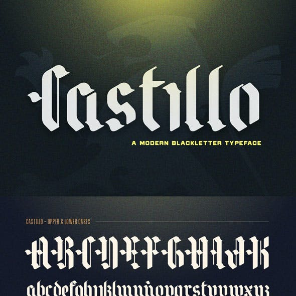 Blackletter and Old English Old English Fonts from GraphicRiver