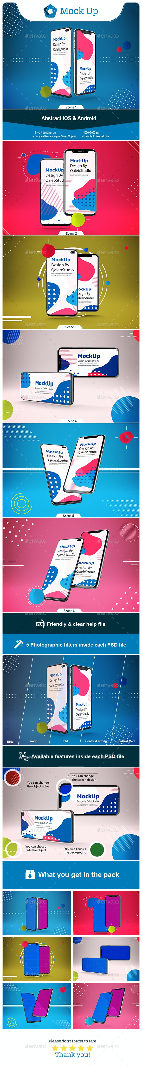 Abstract IOS & Android - Mobile Displays