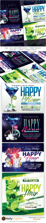 Happy Hour Flyer Bundle - Clubs & Parties Events
