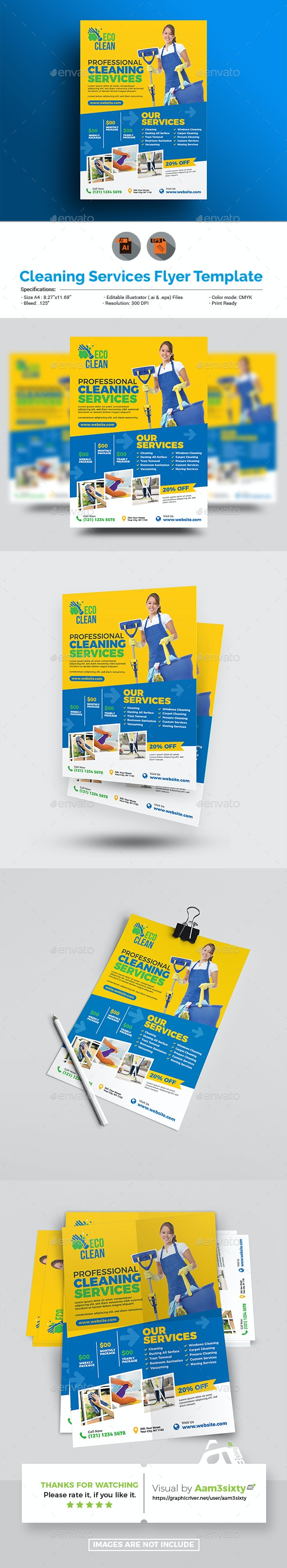 Cleaning Flyer - Flyers Print Templates