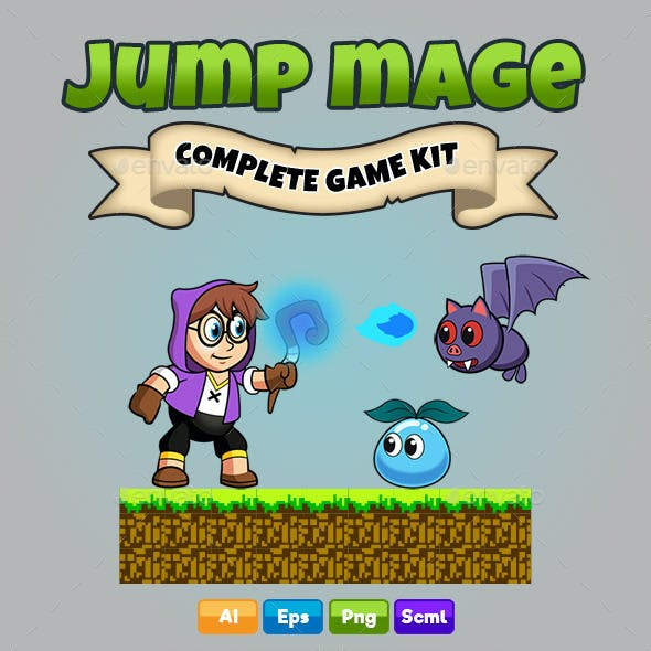 Jump Mage - Platformer Game Kit