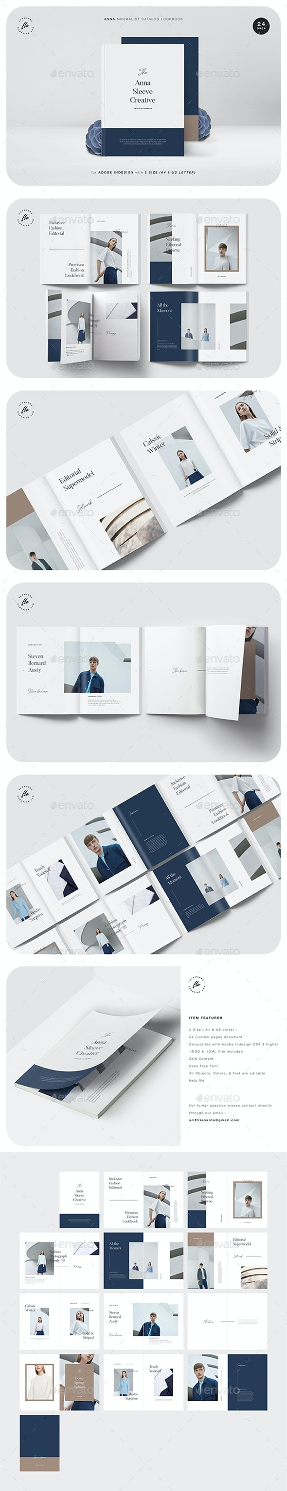 Anna Minimalist Catalog Lookbook - Magazines Print Templates