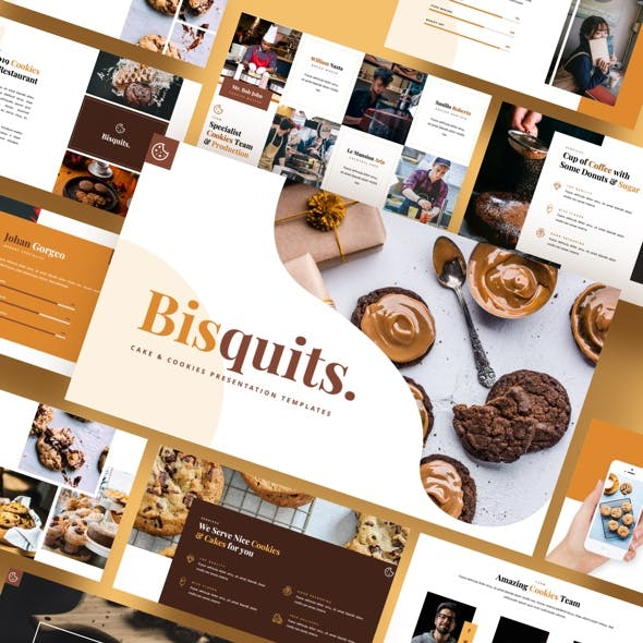 Bisquits - Cake & Cookies Powerpoint Template
