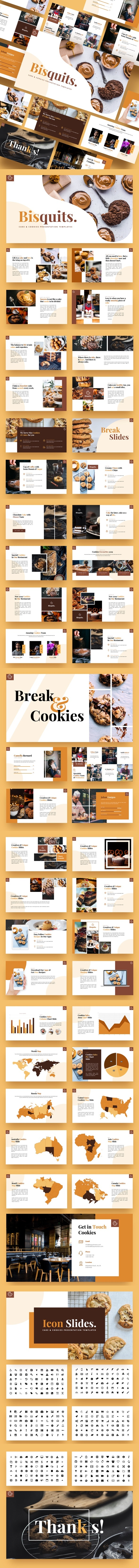 Bisquits - Cake & Cookies Google Slides Template - Google Slides Presentation Templates