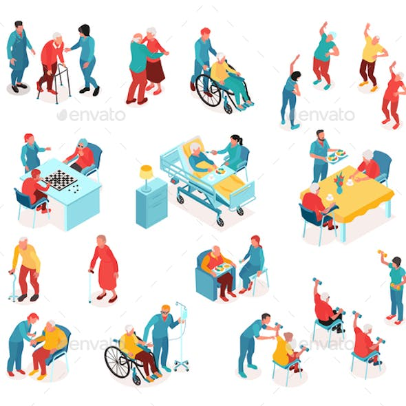 Nursing Home Isometric Set