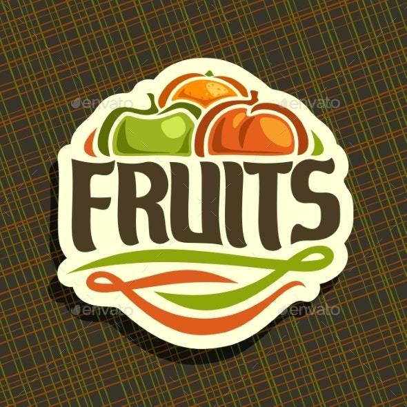 Vector Logo for Fruits - Food Objects
