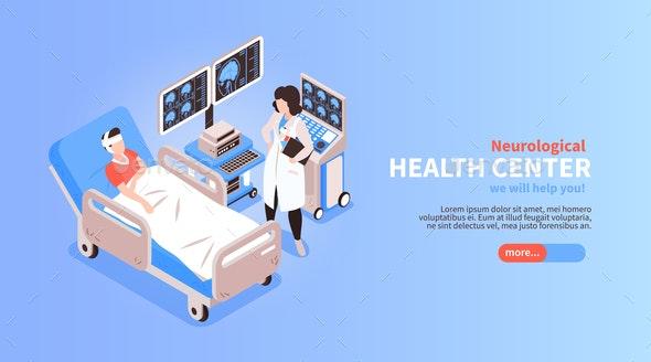 Neurology  Isometric Banner - Health/Medicine Conceptual