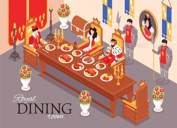 Royal Dining Room Composition - Miscellaneous Vectors