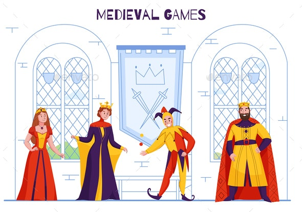 Medieval Kingdom Jester Composition - Miscellaneous Vectors