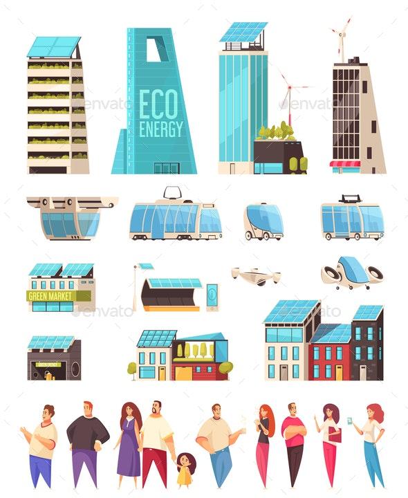 Smart City Residents Set - Miscellaneous Vectors