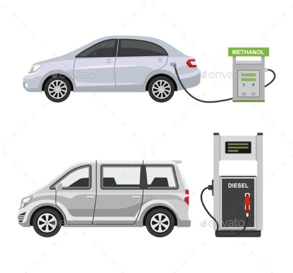 Fuel Alternative Vehicle Vector - Industries Business