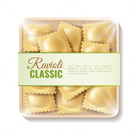 Classic Ravioli Packaging Composition - Food Objects