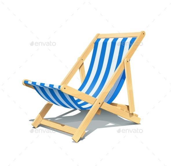 Beach Chaise Lounge for Summer Rest - Man-made Objects Objects