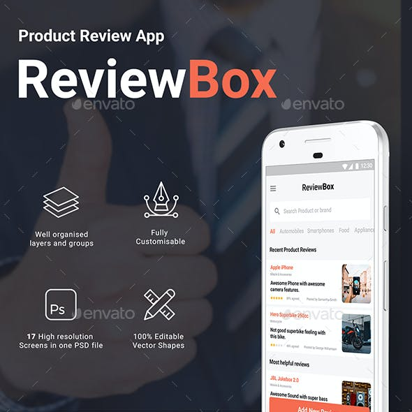 Online Product Review App UI Kit