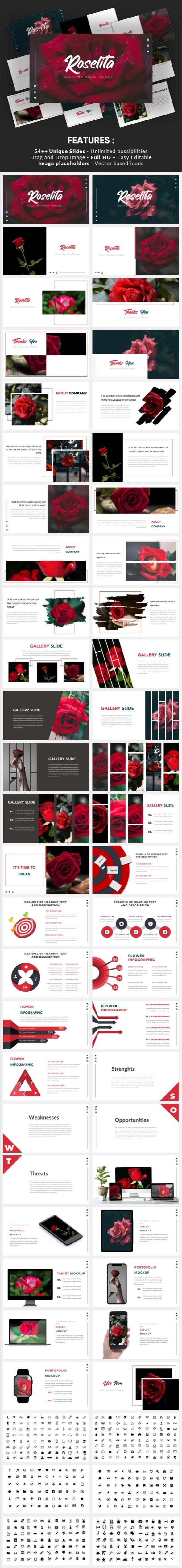 Roselita - Nature Minimalism Powerpoint Template - Nature PowerPoint Templates