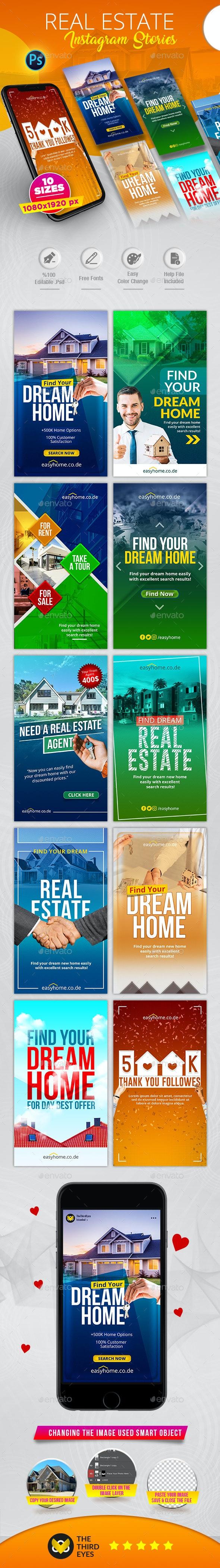 Real Estate Instagram Stories - Social Media Web Elements