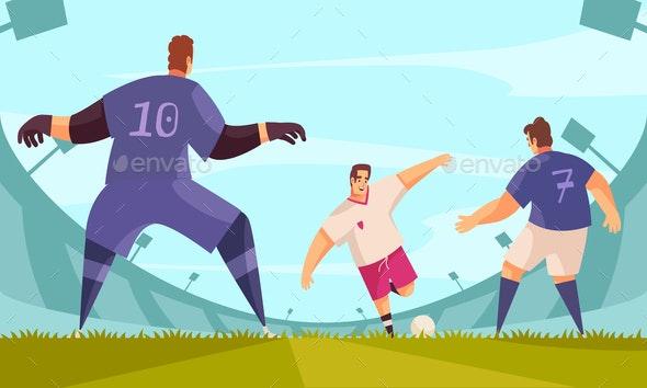 Stadium Soccer Action Composition - Sports/Activity Conceptual