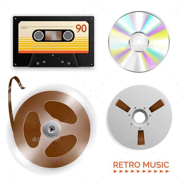Retro Music Medium Set - Miscellaneous Vectors