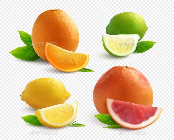 Citrus Transparent Set - Food Objects