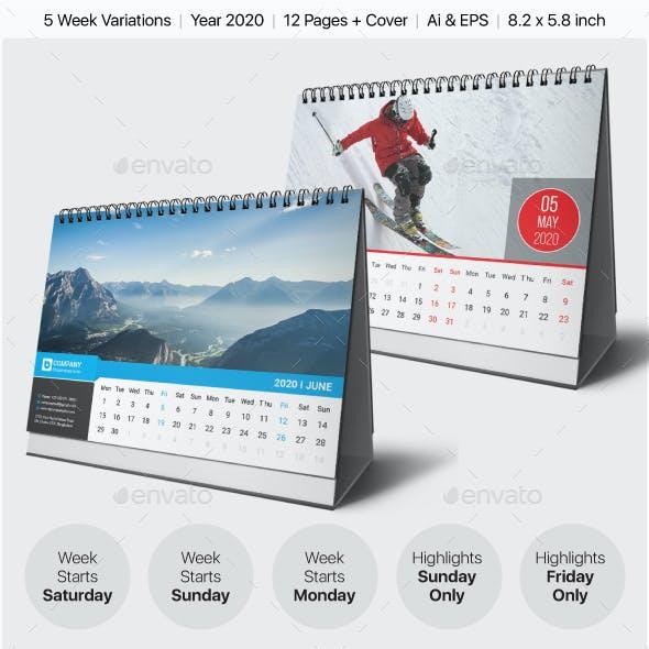 Desk Calendar 2020 Bundle