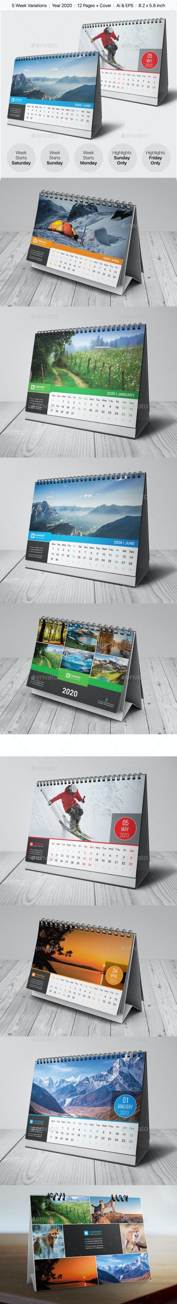 Desk Calendar 2020 Bundle - Calendars Stationery