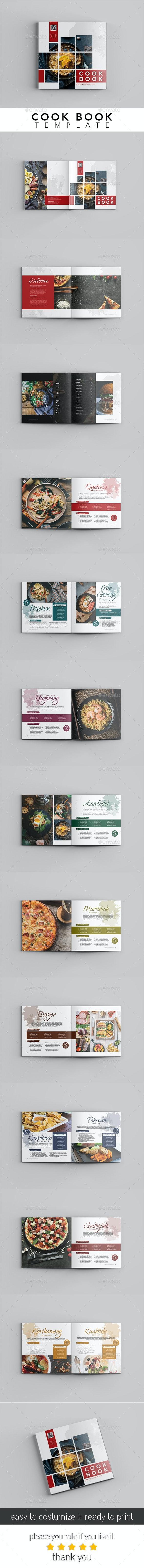 Edit Cook Book - Your Recipes - Brochures Print Templates
