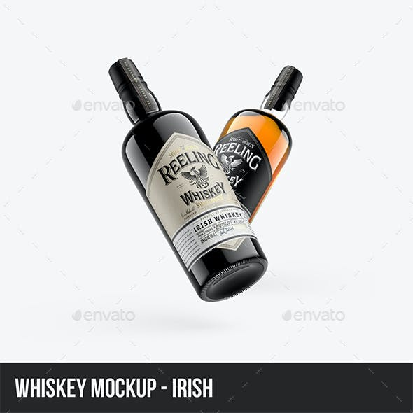 Whiskey Mockup - Irish