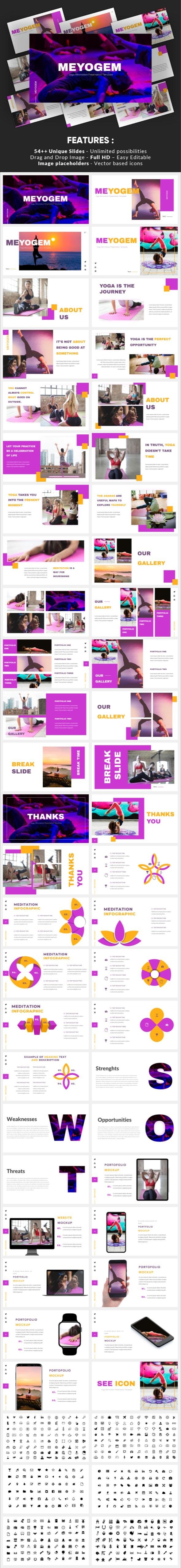 Meyogem - Yoga Minimalism Google Slides Template - Google Slides Presentation Templates