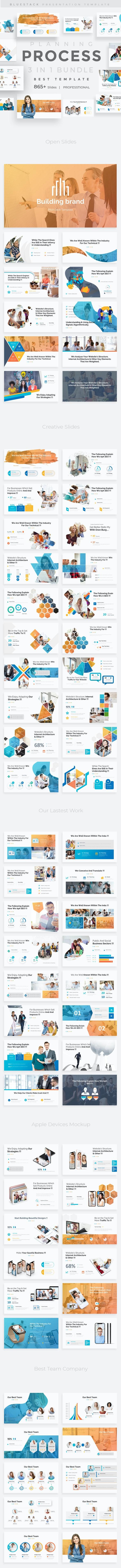 3 in 1 Planning Process Bundle Google Slide Template - Google Slides Presentation Templates