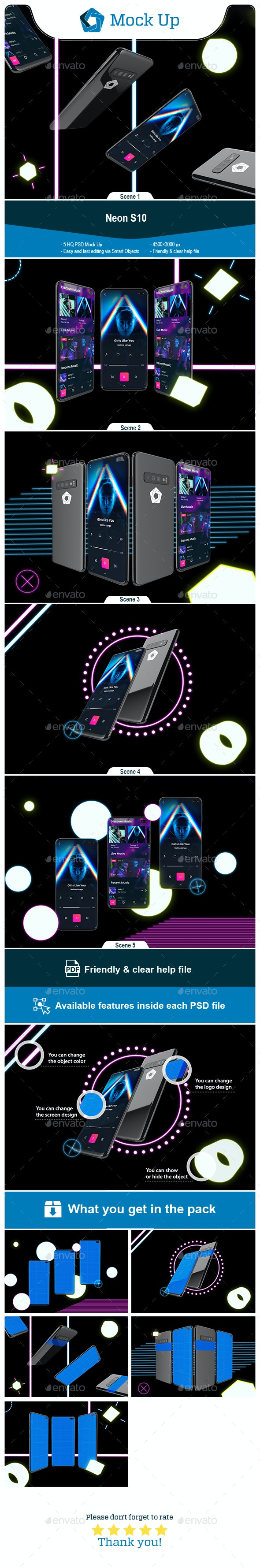 Neon S10 mockup - Mobile Displays