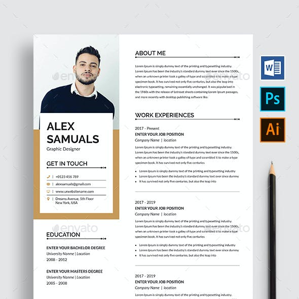 Resume Cover Letter Graphics, Designs & Templates