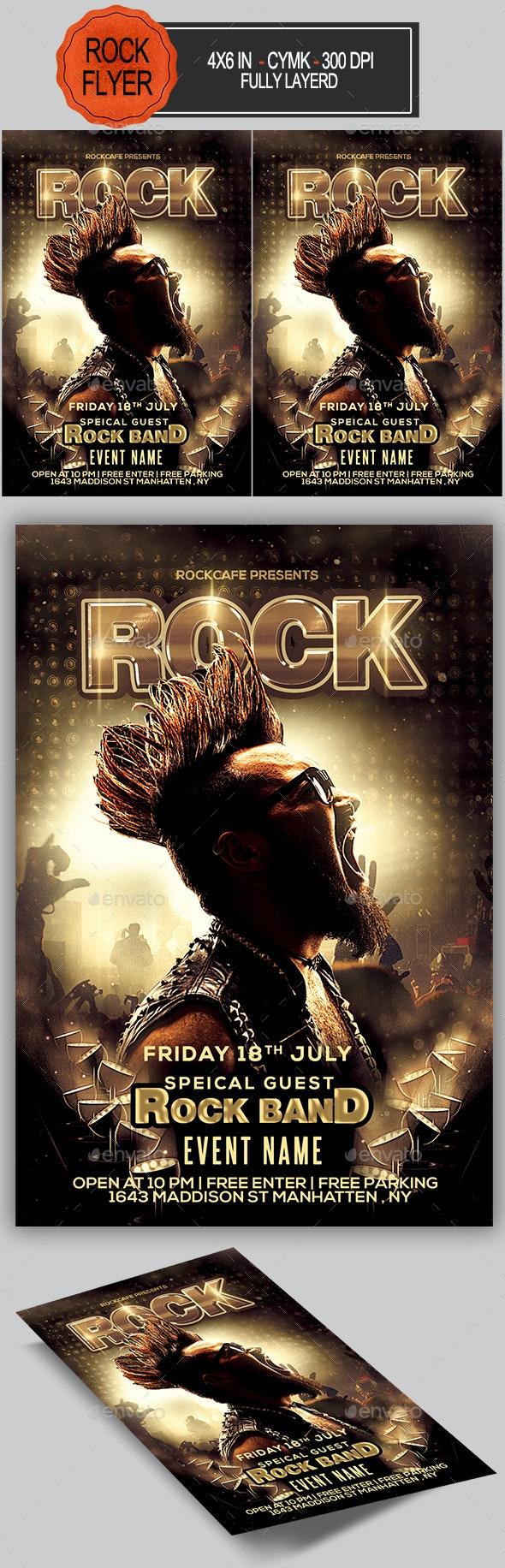 Rock Flyer - Concerts Events