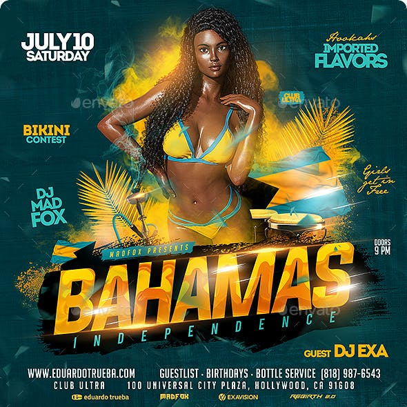 Bahamas Independence Party Flyer