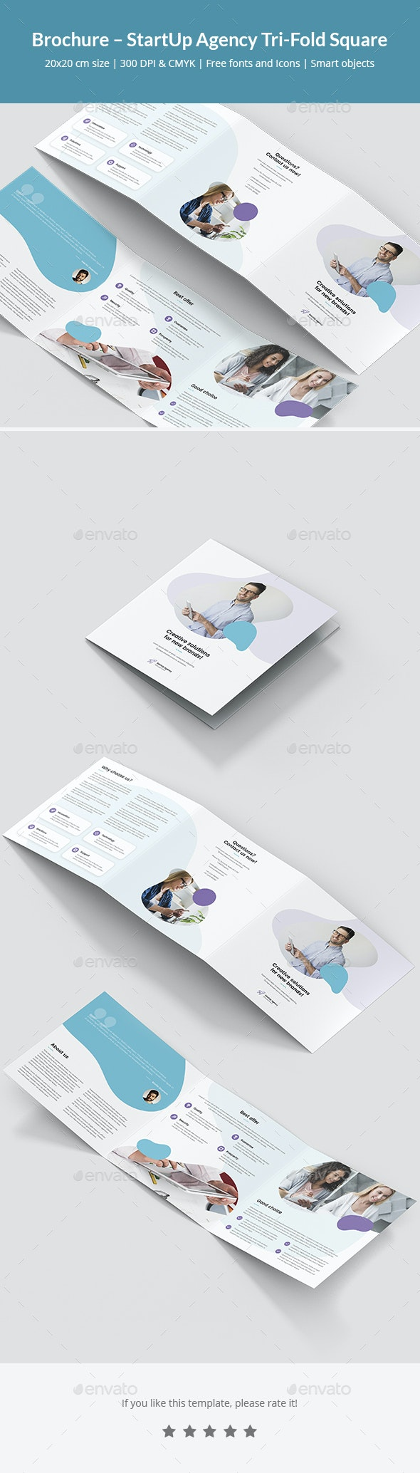 Brochure – StartUp Agency Tri-Fold Square - Corporate Brochures