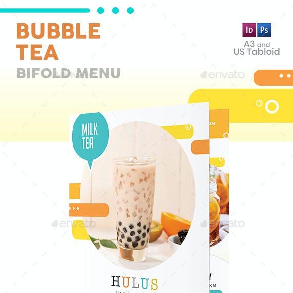 Bubble Tea Bifold / Halffold Menu 5