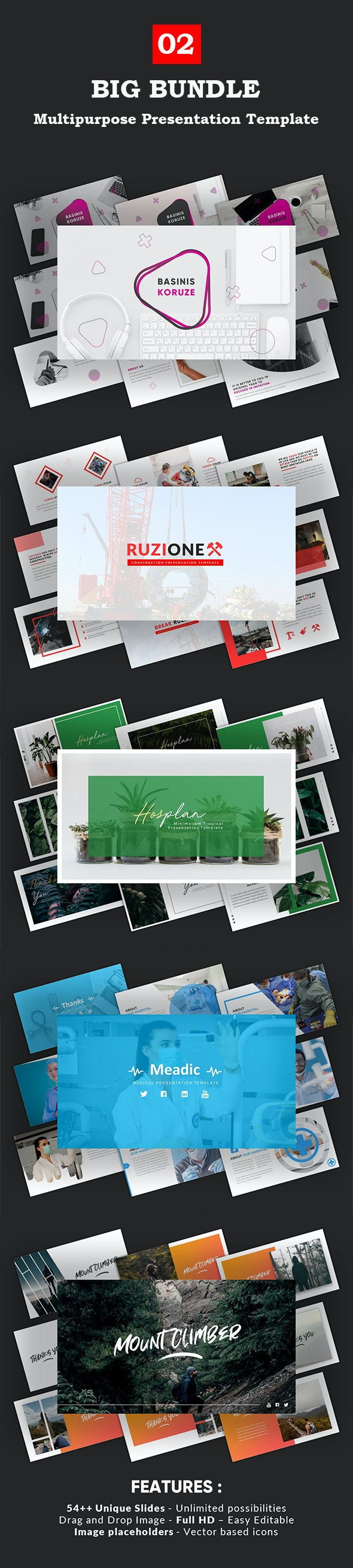 Big Bundle Vol.2 Powerpoint Template - Business PowerPoint Templates