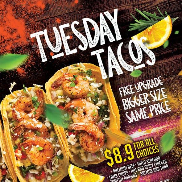 Tacos Mexico Restaurant Flyer - Set of 3 Templates