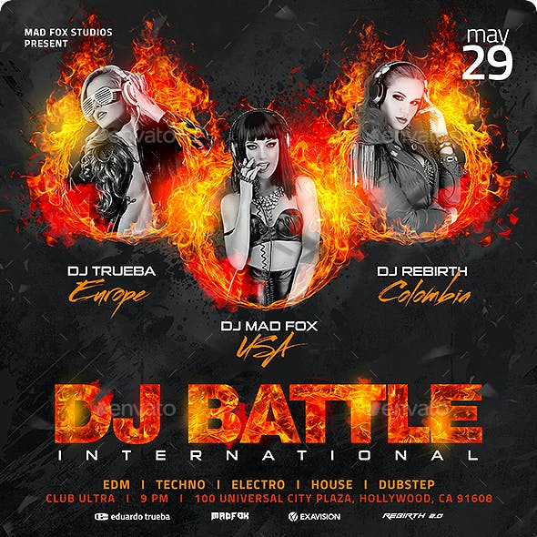Dj Battle International Party Flyer