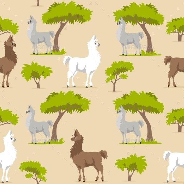 Llama Pattern - Animals Characters