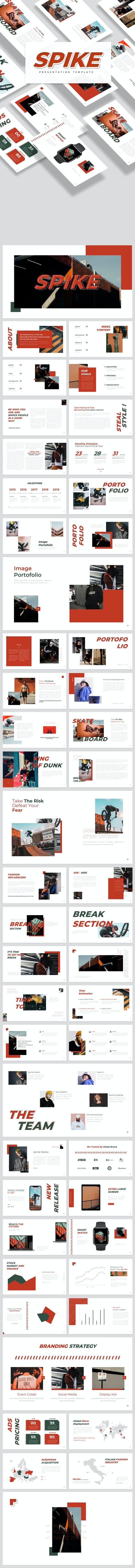 Spike Google Slides - Google Slides Presentation Templates
