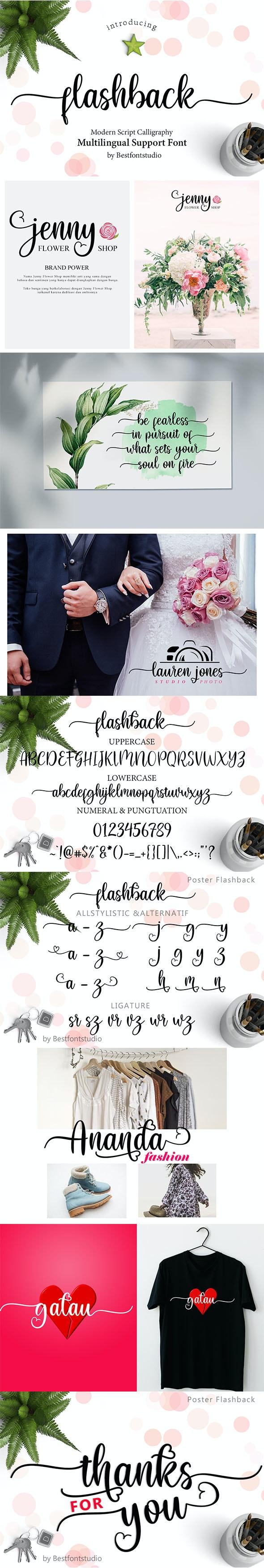Flashback Script Font - Calligraphy Script