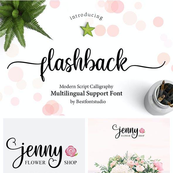 Flashback Script Font