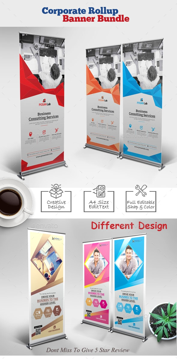 Corporate Rollup Banner Bundle - Corporate Brochures