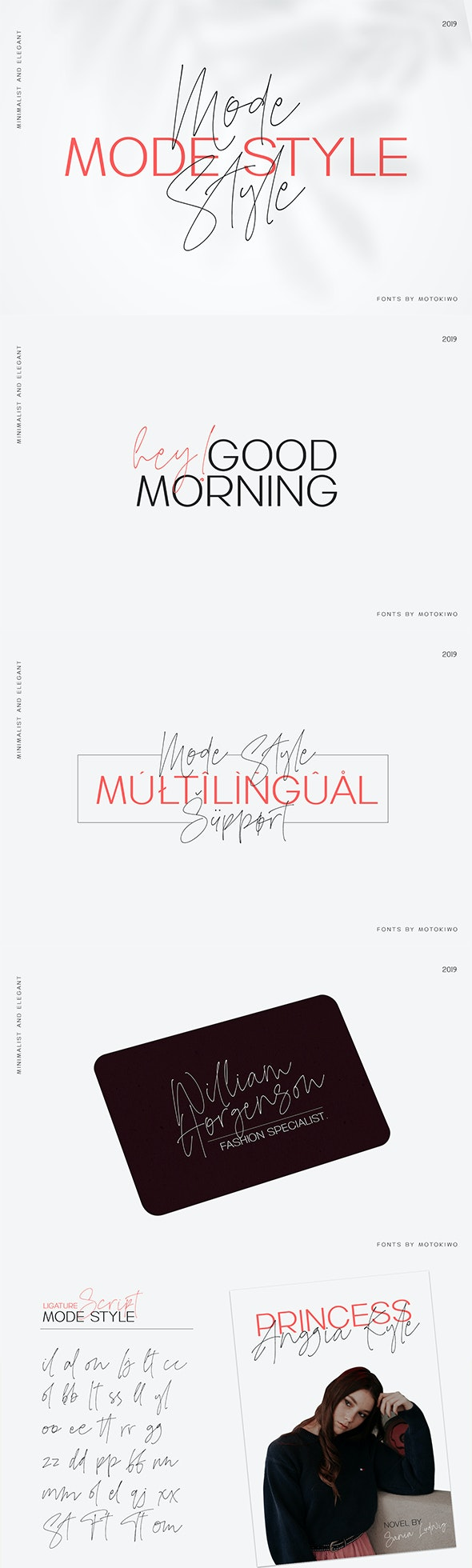 Mode Style Font Duo - Hand-writing Script